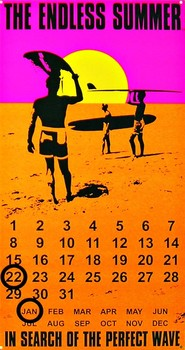 Metallschild ENDLESS SUMMER CALENDAR