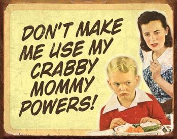Blechschilder EPHEMERA - Crabby Mommy