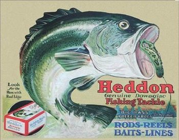 Metallschild HEDDON - frogs