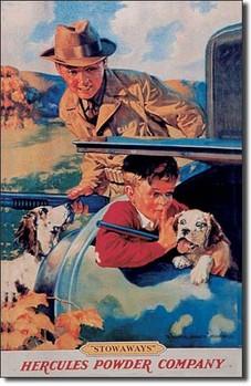 Blechschilder HERCULES / BOY / CAR - trunk
