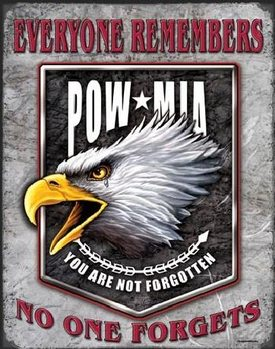 Metallschild LEGENDS - pow eagle