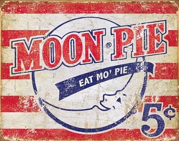 Metallschild Moon Pie - American