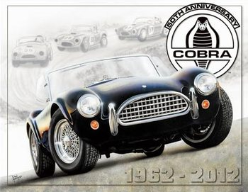Metallschild Shelby Cobra 50th