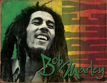 Bob Marley Metallskilt
