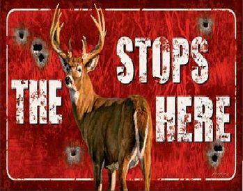 Buck Stops Here Metallskilt