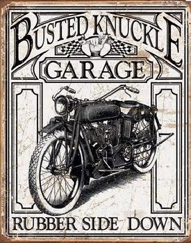 BUSTED KNACKLE - Vintage Metallskilt