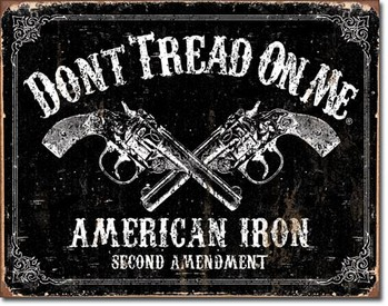 Dtom - american iron Metallskilt
