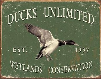 DUCK UNLIMITED SINCE 1937 Metallskilt