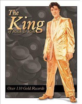 Metallskilt ELVIS PRESLEY- Gold Lame' Suit