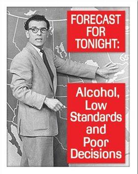 Ephemera - Tonight's Forecast Metallskilt