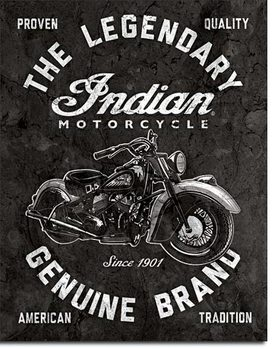 Indian Motorcycles - Legendary Metallskilt
