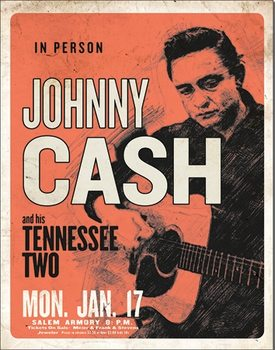Johnny Cash & His Tennessee Two Metallskilt