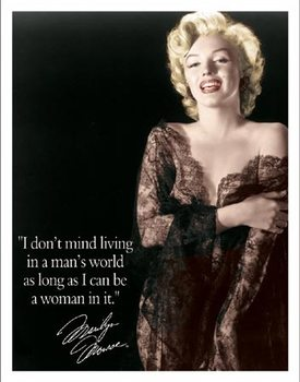 Marilyn - Man's World Metallskilt
