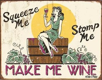 MOORE - make me wine Metallskilt