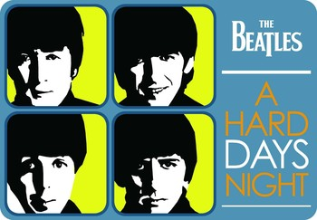 A HARD DAY'S  NIGHT Metalni znak
