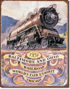 B&O RAILROAD 34 - worlds fair Metalni znak