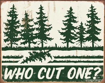 SCHONBERG - Who Cut One? Metalni znak