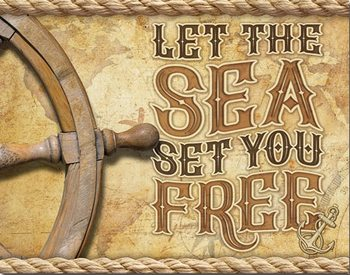 Sea - Set You Free Metalni znak