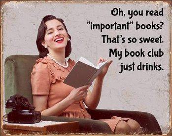 Metalowa tabliczka Book Club