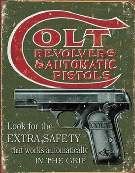 Metalowa tabliczka  COLT - extra safety
