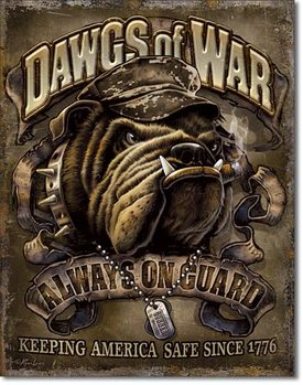 Metalowa tabliczka  Dawgs of War