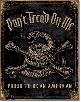 Metalowa tabliczka DTOM - Proud to be American