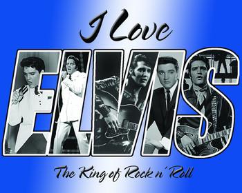 Metalowa tabliczka ELVIS PRESLEY - i love elvis