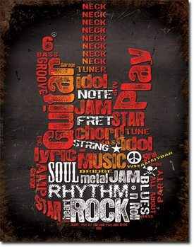Metalowa tabliczka  Guitar Inspiration