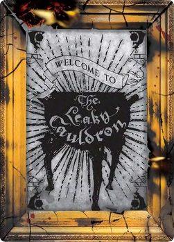 Metalowa tabliczka Harry Potter - Cauldron