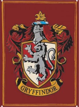 Metalowa tabliczka Harry Potter - Gryffindor