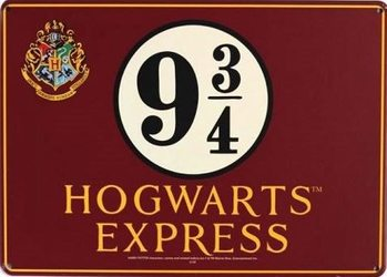 Metalowa tabliczka Harry Potter - Hogwarts Express