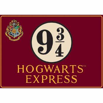 Metalowa tabliczka Harry Potter - Hogwarts Express