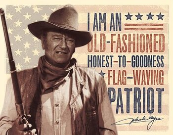 Metalowa tabliczka John Wayne - Patriot
