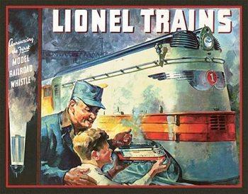 Metalowa tabliczka Lionel 1935 Cover