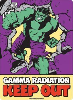 Metalowa tabliczka Marvel - Hulk