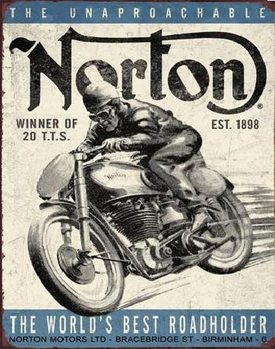 Metalowa tabliczka NORTON - winner