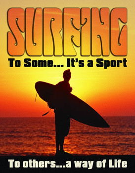 Metalowa tabliczka SURF - WAY OF LIFE