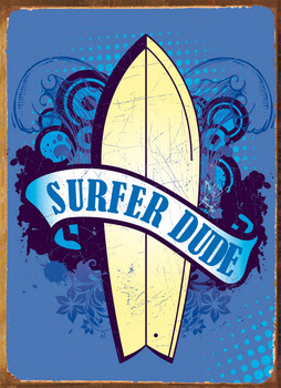 Metalowa tabliczka SURFER DUDE