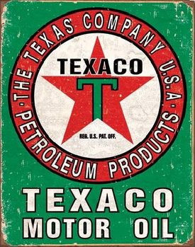 Metalowa tabliczka TEXACO - Motor Oil