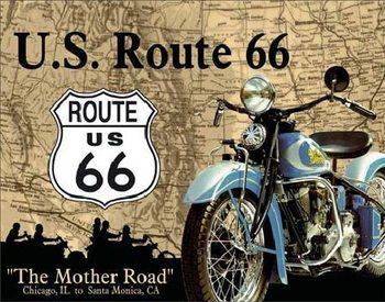 Metalowa tabliczka THE MOTHER ROAD