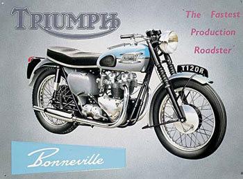 Metalowa tabliczka TRIUMPH BONNEVILLE