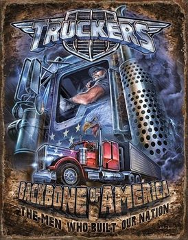 Metalowa tabliczka  Truckers - Backbone