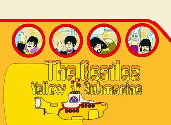 Metalowa tabliczka YELLOW SUBMARINE