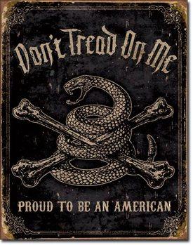 Metalskilt DTOM - Proud to be American