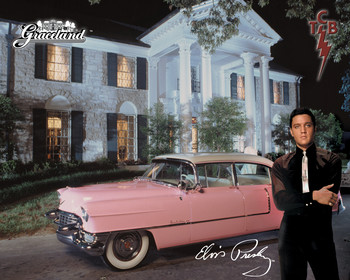 Metalskilt ELVIS PRESLEY - and his cadillac