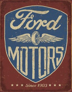 Metalskilt Ford Motors - Since 1903
