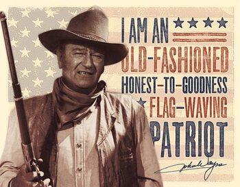 Metalskilt John Wayne - Patriot