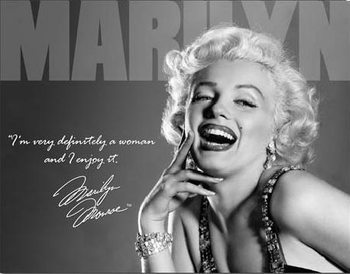 Metalskilt MARILYN MONROE - definately