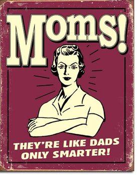 Metalskilt Mom's - Like Dads