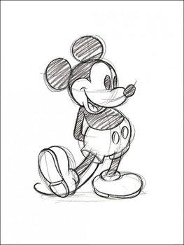Εκτύπωση έργου τέχνης Micky Maus (Mickey Mouse) - Sketched Single